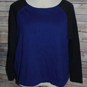 * Flawed * Eileen Fisher Raglan Sweater HW3300